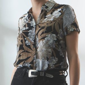 Vintage Croft & Barrow Floral Button Down